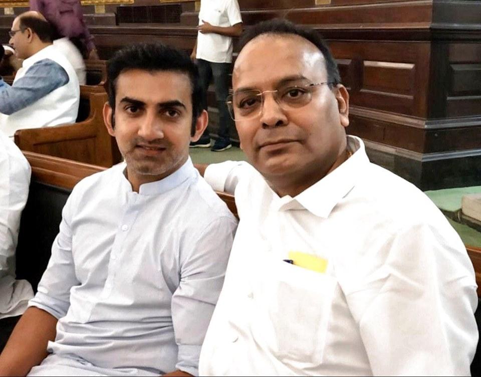 Gautam Gambhirजी से सौजन्य मुलाकात